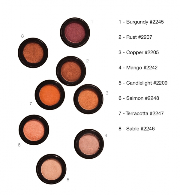 Peach & Rust Eye Shadow-0