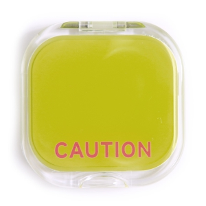Caution Compact Mirror-0