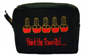 Square Embroidered Makeup Bag-0
