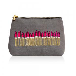 Embroidered Makeup Bag-0
