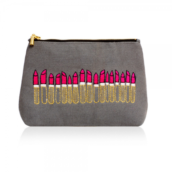 Embroidered Makeup Bag-0