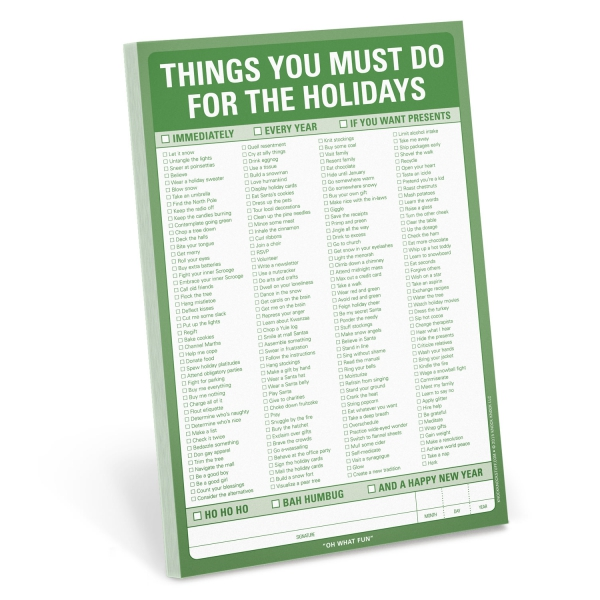 Things You Must Do For The Holidays Pad-0